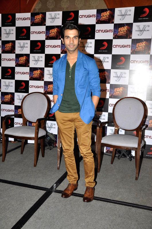 Actor Rajkumar Rao during the footage screening of film Citylights in Mumbai, on May 5, 2014. - Rajkumar Rao