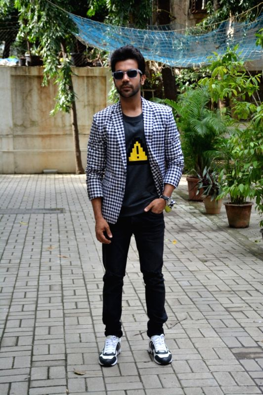 "Actor Rajkummar Rao at the promotion of his upcoming film ""Stree"" in Mumbai on Aug 6, 2018. - Rajkummar Rao"