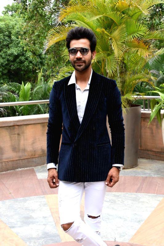"Actor Rajkummar Rao at the promotion of his upcoming film ""Stree"" in Mumbai on Aug 7, 2018. - Rajkummar Rao"