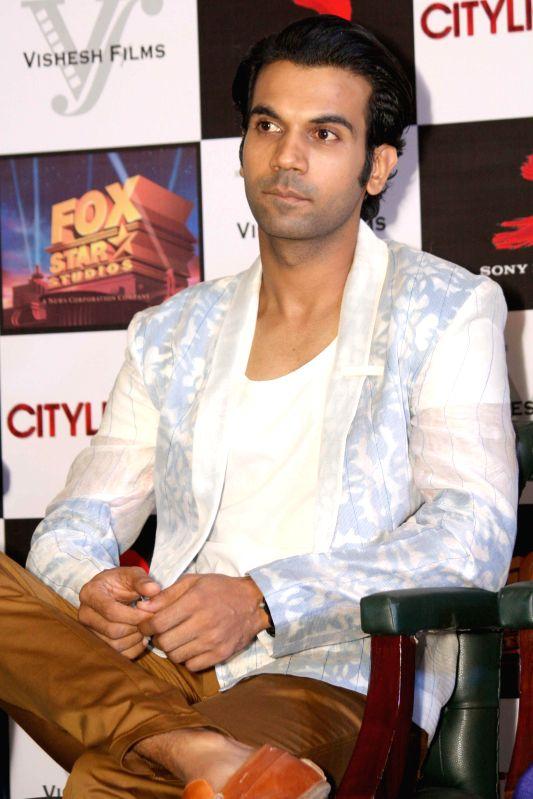 Actor Rajkummar Rao during a press conference to promote his upcoming film 'Citylights' in New Delhi on May 2, 2014. - Rajkummar Rao