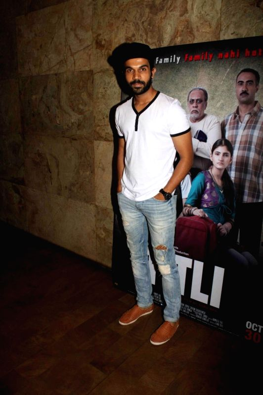 Actor Rajkummar Rao during a special screening of film Titli in Mumbai, on Oct 28, 2015. - Rajkummar Rao