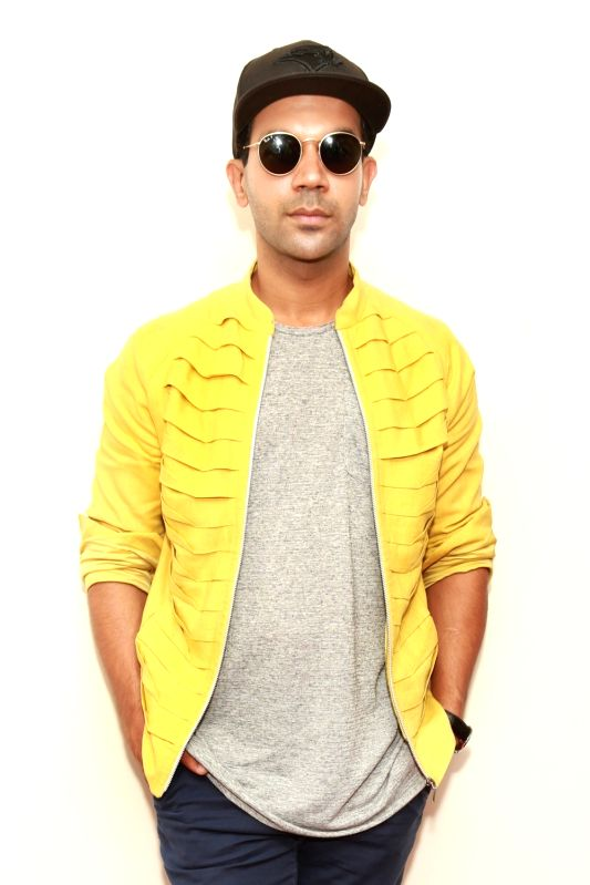 Actor Rajkummar Rao during promotions of his forthcoming film `Behen Hogi Teri` in New Delhi, on June 1, 2017. - Rajkummar Rao
