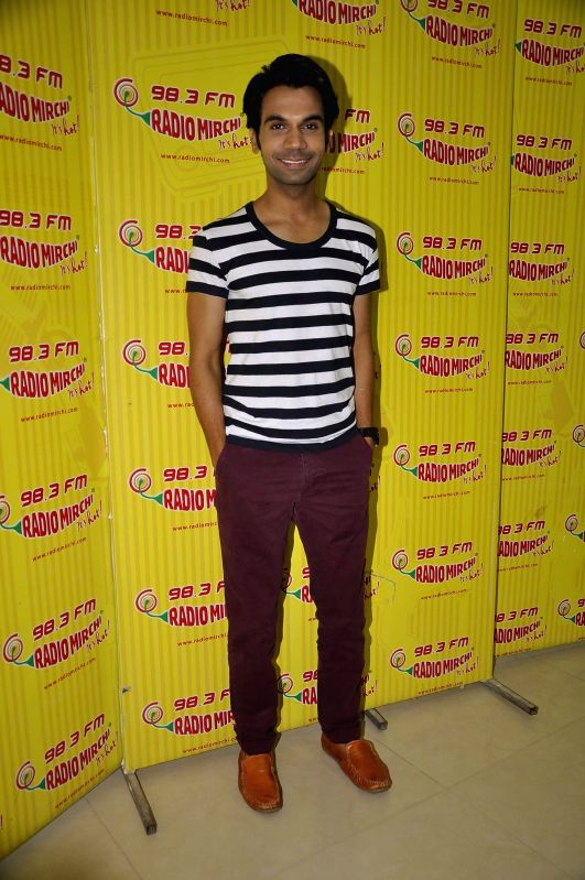 Actor Rajkummar Rao during the meet and greet session on Radio Mirchi to promote his upcoming film City Lights in Mumbai, on May 14, 2014. - Rajkummar Rao