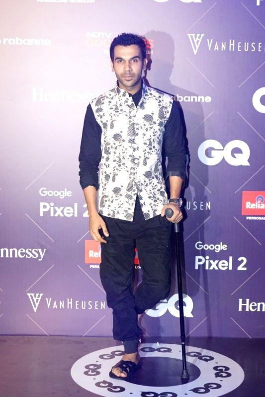 Actor Rajkummar Rao during Van Heusen + GQ Fashion Nights 2017 in Mumbai on Nov 11, 2017. - Rajkummar Rao