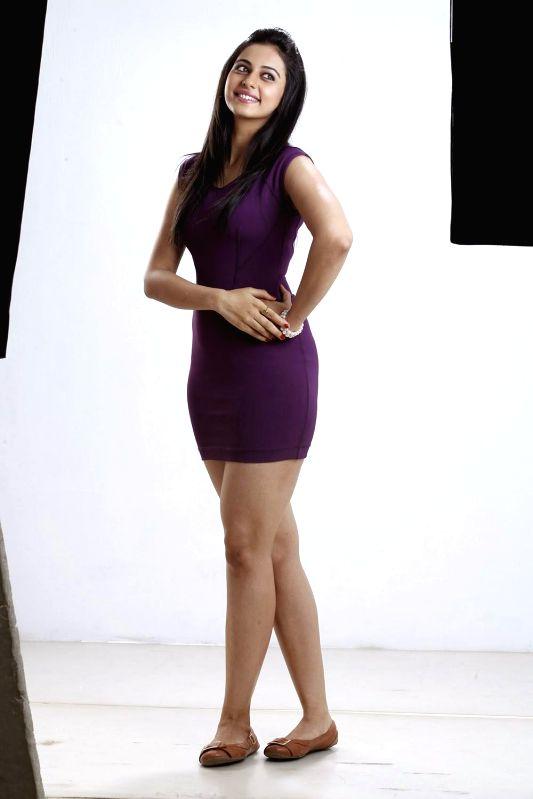 Actor Rakul Preet during the photo shoot in Mumbai on May 15, 2014.