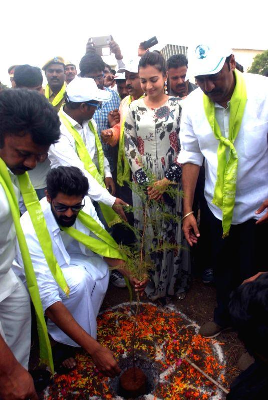 Tree plantation drive - Rana Daggubati - Rana Daggubati and Srinivas Yadav