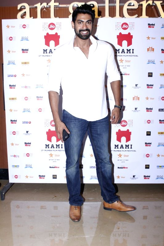 Actor Rana Daggubati, during the premier of Kannada feature film Thithi, at MAMI Festival, in Mumbai, on Oct 31, 2015. - Rana Daggubati