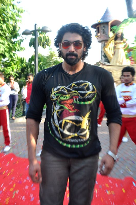 Actor Rana Duggubati during the launch of IMAGICA Parade at Khapoli in Mumbai on 10 May, 2014.