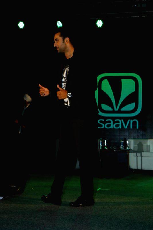 Actor Ranbir Kapoor during the premiere of online music platform Saavn in Mumbai on Aug 19, 2014. - Ranbir Kapoor
