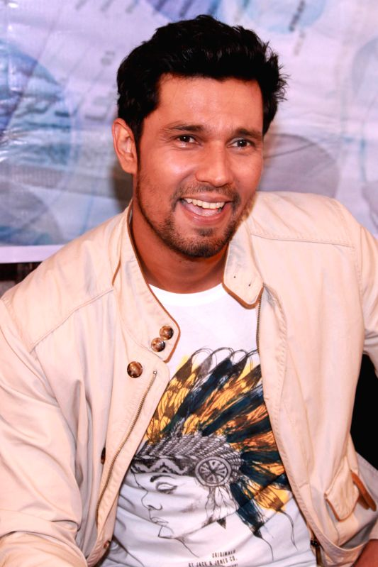 Actor Randeep Hooda during a press conference to promote their upcoming film `Main Aur Charles` in Noida, on Oct 27, 2015. - Randeep Hooda