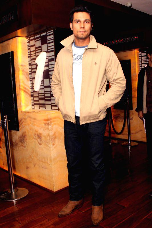 Actor Randeep Hooda during a press meet of his upcoming film `Ungli` in New Delhi on Nov. 25, 2014. - Randeep Hooda