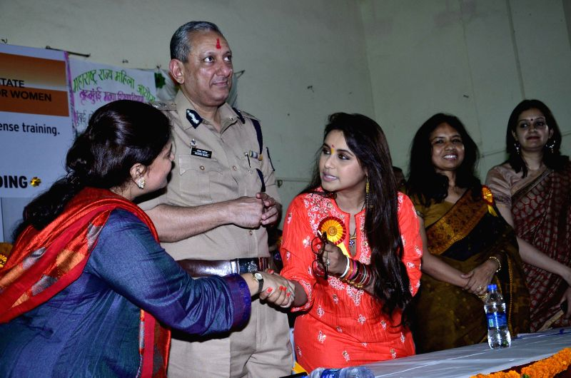 Actor Rani Mukerji during the inauguration of self defence workshop for BMC schoolgirls and book launch of know your legal rights in Mumbai, on Aug. 23, 2014.