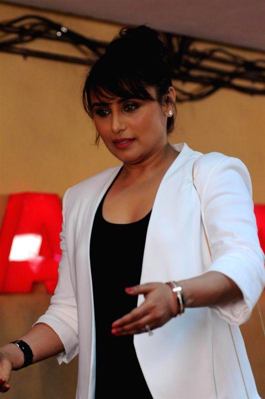Actor Rani Mukerji during the launch of upcoming film Mardaani trailer at YRF Studios in Mumbai on June 24, 2014. - Rani Mukerji