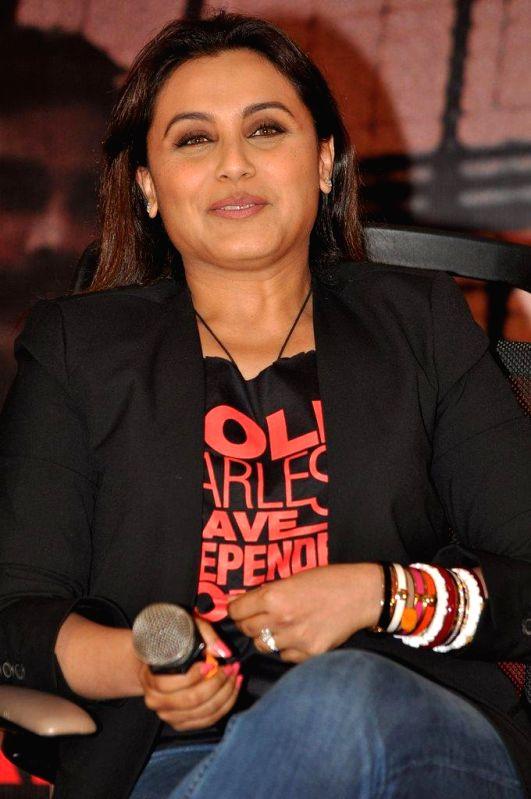 Actor Rani Mukherji during a media interaction of film Mardaani, in Mumbai, on Aug. 26, 2014. - Rani Mukherji