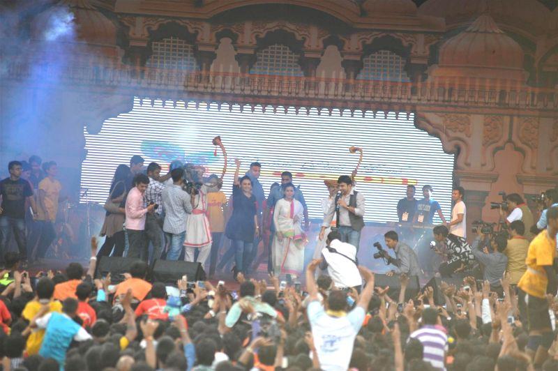 Actor Rani Mukherji during Dahi Handi 2014 celebrations organised by MNS leader Ram Kadam at Ghatkopar in Mumbai on Aug. 18, 2014. - Rani Mukherji