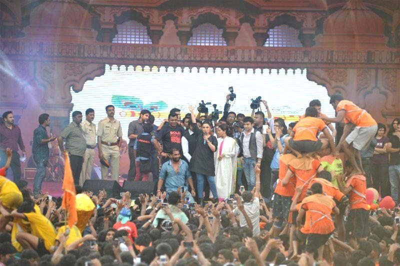 Actor Rani Mukherji during Shri Sankalp Pratishthan`s Dahi Handi celebrations in Mumbai on Aug. 18, 2014. - Rani Mukherji