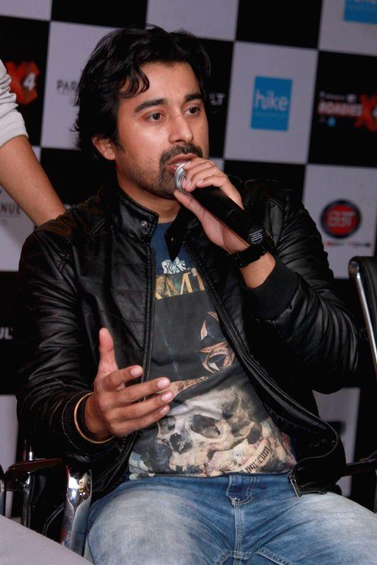 Actor Rannvijay Singh during a press meet of MTV Roadies X4, in New Delhi, on Nov 25, 2015. - Rannvijay Singh