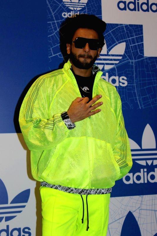 Actor Ranveer Singh during a store launch in Mumbai on Nov 21, 2017. - Ranveer Singh
