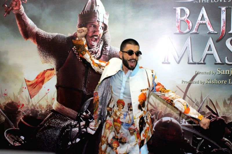 "Actor Ranveer Singh during promotion of his upcoming film ""Bajirao Mastani""  in Nagpur, on Dec 1, 2015. - Ranveer Singh"