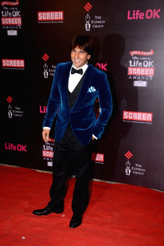 20th Annual Life OK Screen Awards - Ranveer Singh