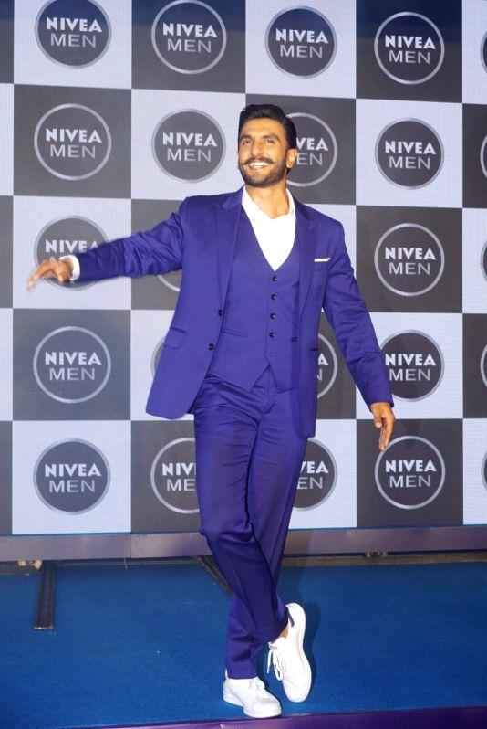 Actor Ranveer Singh during the launch of a product in Mumbai on Aug 4, 2018. - Ranveer Singh