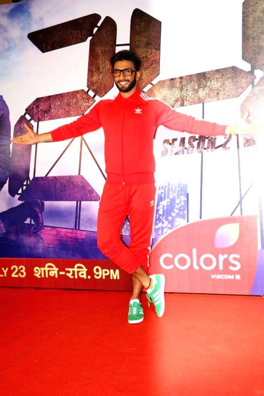 Actor Ranveer Singh during the screening of second season of television series 24, in Mumbai, on July 22, 2016. - Ranveer Singh