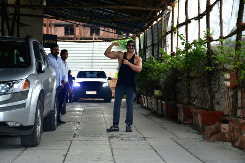 Actor Ranveer Singh seen at a gym in Bandra, Mumbai on July 12, 2018. - Ranveer Singh