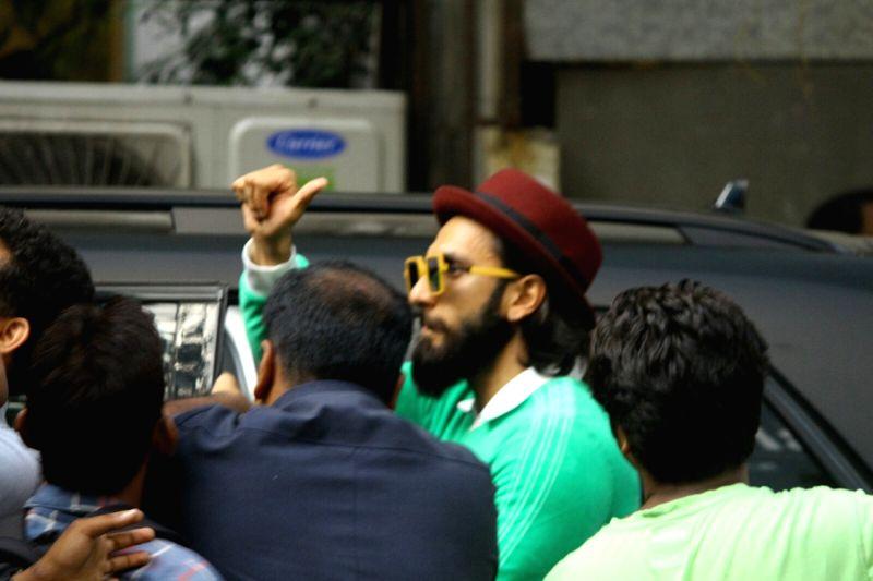 Actor Ranveer Singh spotted at Bandra in Mumbai on May 13, 2017. - Ranveer Singh