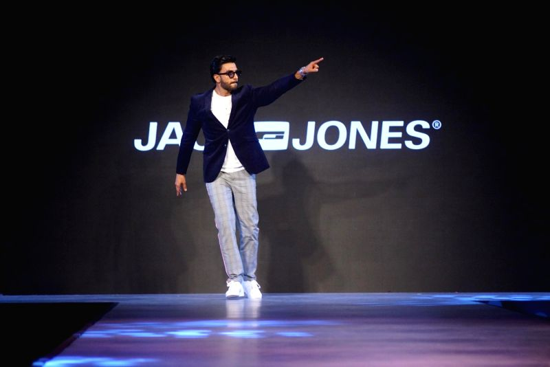 Actor Ranveer Singh walks the ramp for fashion brand Vero Moda at AW'18 collection in Mumbai on Aug 8, 2018. - Ranveer Singh
