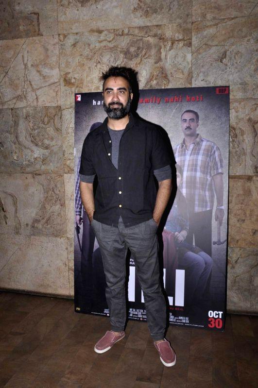 Actor Ranvir Shorey during the screening of film Titli, in Mumbai, on Oct 27, 2015. - Ranvir Shorey
