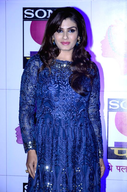 Actor Raveena Tandon during launch of serial Yeh Pal Hamara Hai on television channel Sony Pal, in Mumbai, on Aug. 21, 2014. - Raveena Tandon