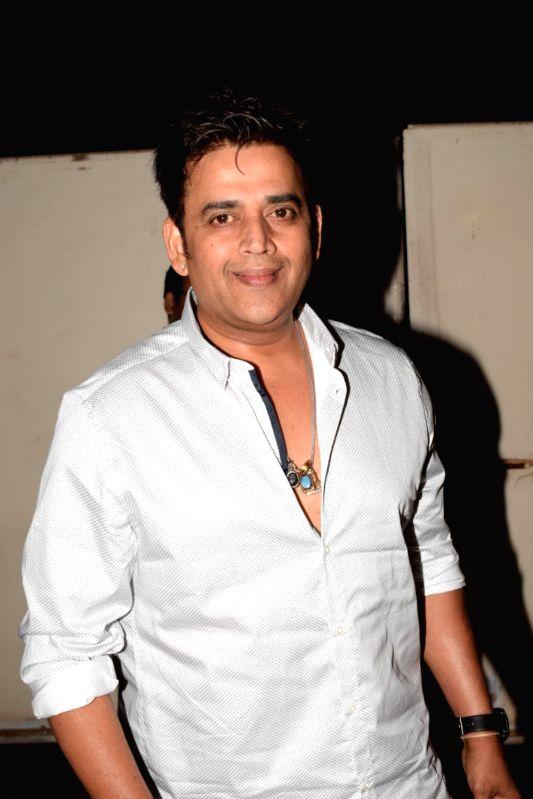 "Actor Ravi Kishan  at the screening of upcoming web series ""Kehne Ko Humsafar Hain"" in Mumbai on March 13, 2018."