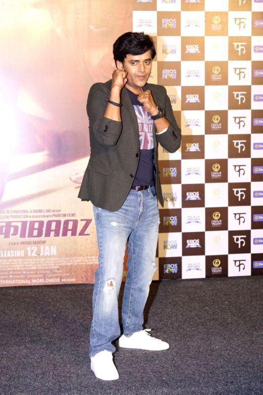 "Trailer launch of film ""Mukkabaaz"" - Ravi Kishan, - Ravi Kishan"