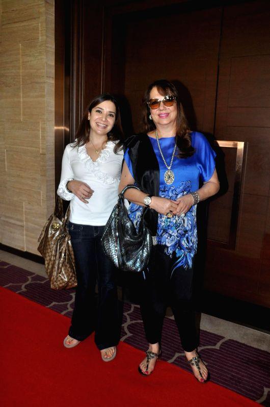 Actor Renuka Shahane during the premiere of Marathi film Dusari Goshta in Mumbai, on April 30, 2014. - Renuka Shahane