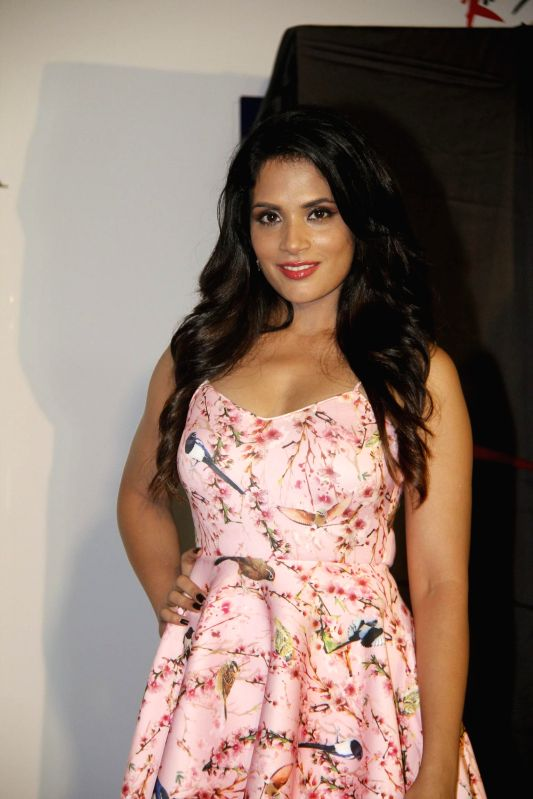 Actor Richa Chadda during the cover launch of Maxim magazine for the September issue in Mumbai on Aug 25, 2014. - Richa Chadda