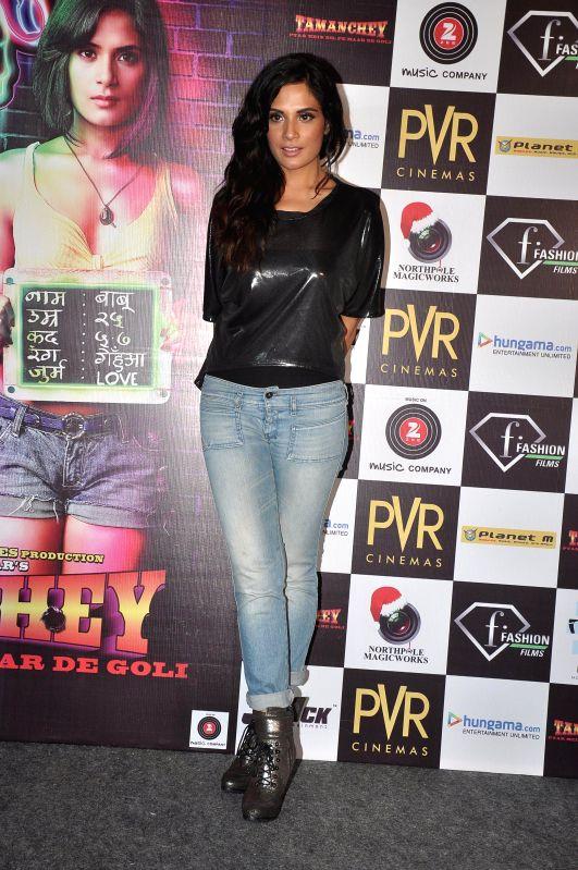 Actor Richa Chadda during the trailer launch of film Tamanchey in Mumbai on July 31, 2014. - Richa Chadda
