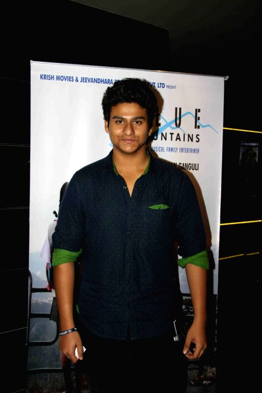 Actor Rishabh Sharma during the celebration for the best feature film Blue Mountain in 9th International Children's Film festival of India in Mumbai on Dec 2, 2015. - Rishabh Sharma