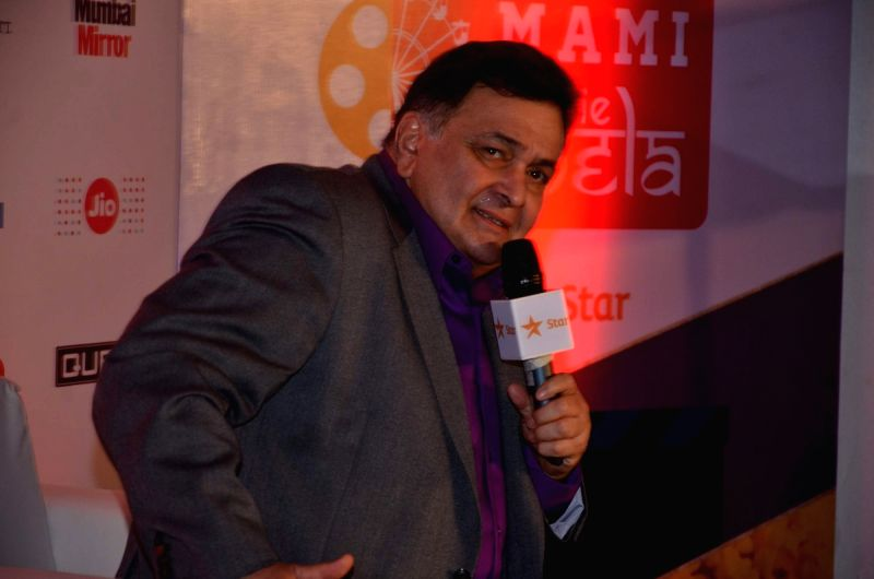 Actor Rishi Kapoor at the 2nd day of Jio MAMI 17th Mumbai Film Festival, in Mumbai on Oct. 31, 2015. - Rishi Kapoor