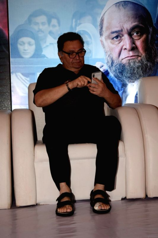 "Actor Rishi Kapoor at the success party of his film ""Mulk"" in Mumbai on Aug 10, 2018. - Rishi Kapoor"