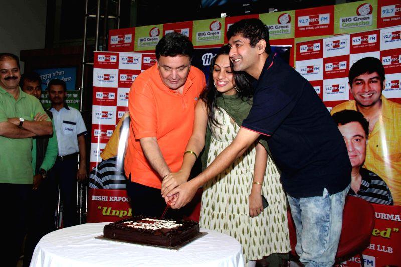 Actor Rishi Kapoor celebrates his birthday with 92.7 big FM radio station in Mumbai, on August 27, 2014.
