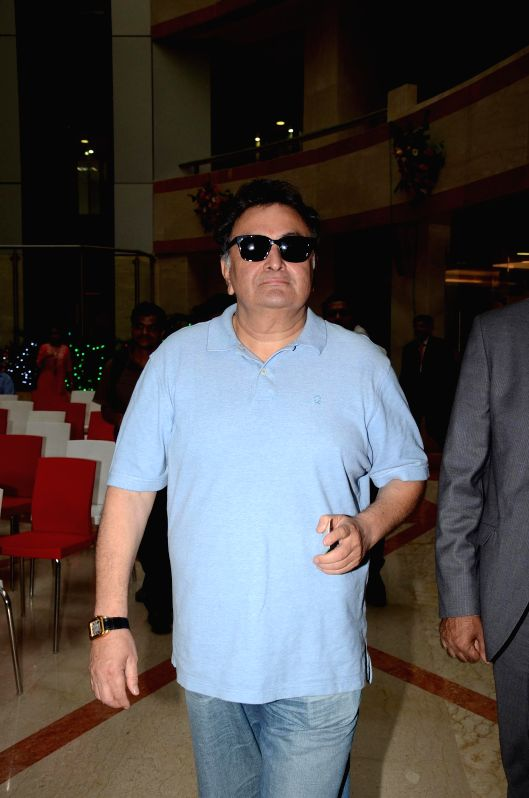 Actor Rishi Kapoor during the launch of IDBI debit card on the golden jubilee celebration of IDBI bank in Mumbai, on July 1, 2014.