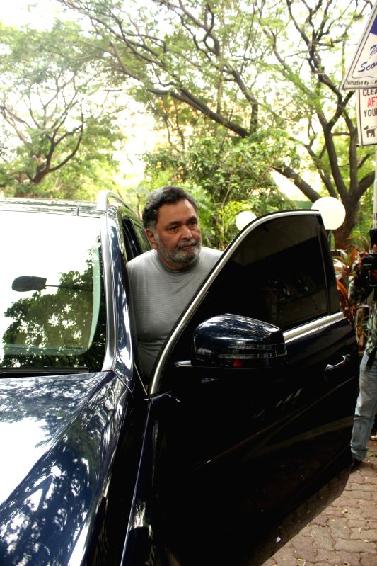 Actor Rishi Kapoor seen at Mumbai's Bandra. - Rishi Kapoor