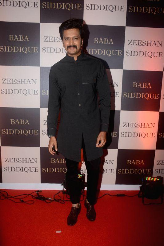 Actor Riteish Deshmukh  at politician Baba Siddique's iftar party in Mumbai on June 10, 2018. - Riteish Deshmukh