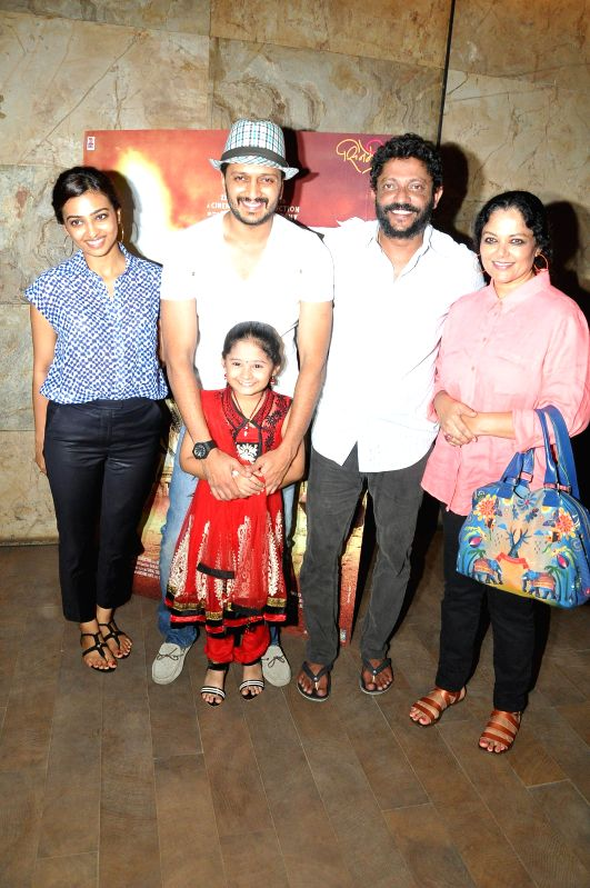 Actor Riteish Deshmukh during the special screening of his upcoming Marathi film 'Lai Bhari' in Mumbai, on July 8.