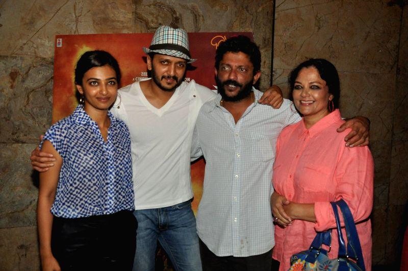 Actor Riteish Deshmukh during the special screening of his upcoming Marathi film Lai Bhari in Mumbai, on July 8. - Riteish Deshmukh