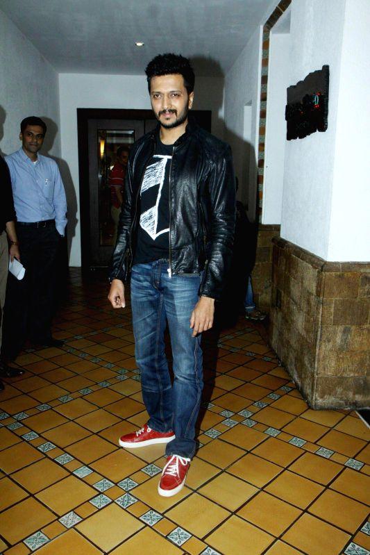 Actor Ritesh Deshmukh during the press conference for the success of film Ek Villian at Hotel Sun N Sand in Mumbai, on July 1, 2014. - Ritesh Deshmukh