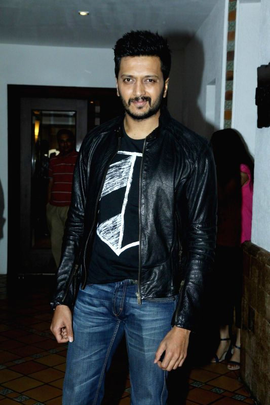 Actor Ritesh Deshmukh during the press conference for the success of film Ek Villian at Hotel Sun N Sand in Mumbai, on July 1, 2014. - Ritesh Deshmukh
