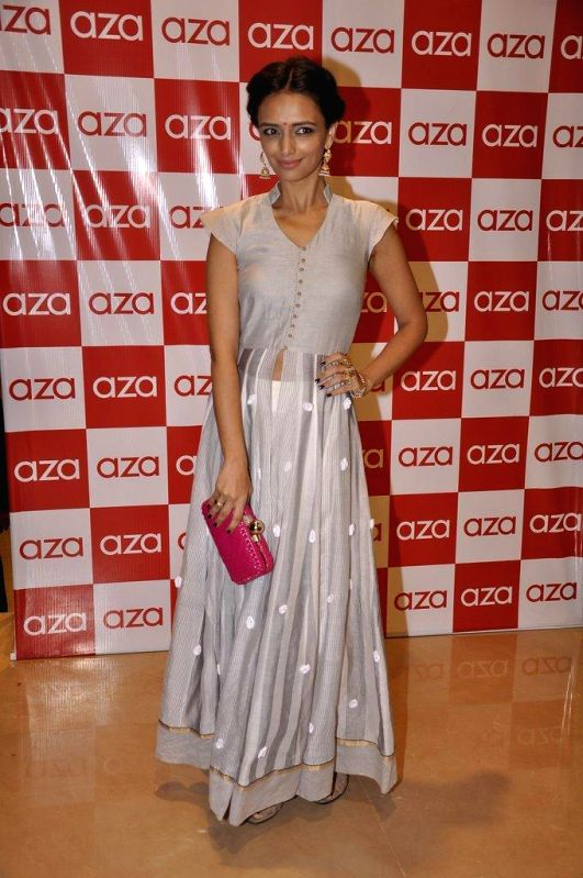 Actor Roshni Chopra during the launch of Aza store in Mumbai, on Aug 28, 2014. - Roshni Chopra