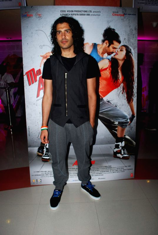 Actor Saahil Prem during the trailer launch of the film Mad About Dance in Mumbai on July 16, 2014. - Saahil Prem