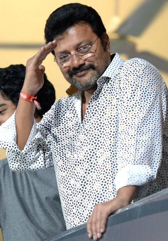 Actor Sai Kumar during an IPL 2018 match between Kings XI Punjab and Royal Challengers Bangalore at M.Chinnaswamy Stadium in Bengaluru on April 13, 2018. - Sai Kumar